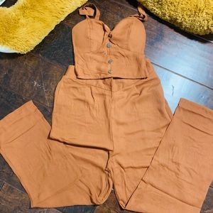 Other - NWOT- Crop top and pant set